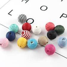 Online Shop 15pcs 13mm Wax Cord winding ball with 2 holes ...