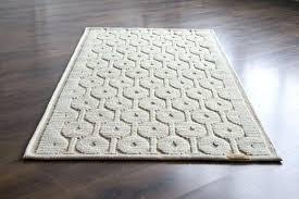 white wool rug bedside wool rug geometric mat small white wool rug woven rug white ecru white wool rug
