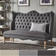 Sawyer Curved Back Tufted Linen Upholstered Bench by iNSPIRE Q Artisan -  Free Shipping Today - Overstock.com - 24157358
