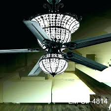 crystal chandelier ceiling fan fans with crystals acrylic type light k crys