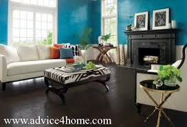 black hardwood flooring and blue white wall and modern sofa design in living room blue dark trendy living room