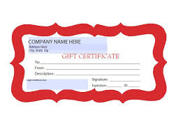 Sample Certificates Templates 31 Free Gift Certificate Templates Template Lab