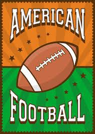 american football rugby sport retro pop art poster signage premium vector
