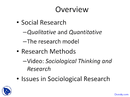 Sociological Research Sociological Research Methods Introductory Sociology