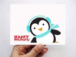 6 Happy Holidays Penguin Christmas Cards - Happy Holidays Card ...