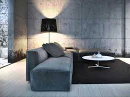 concrete walls to get handsome interior design for modern house