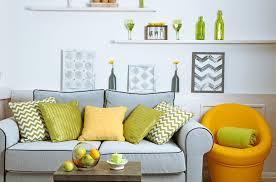 10 grey and yellow living room ideas