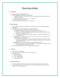What Is Thesis In Essay Thesis Essay Outline