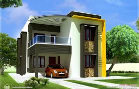 contemporary house plans duplex plan front view of small 3d image