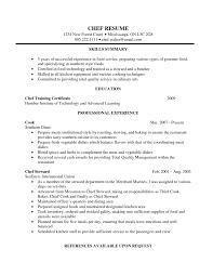 resume cover letter baker job description sample cover letter sample cover letter for executive chef position job and resume