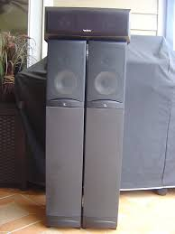 infinity surround speakers. infinity rs8 powered tower speakers \u0026 center speaker surround f
