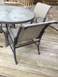 tropitone round patio table with 4