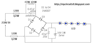 led light driver circuit diagram the wiring diagram 230v ac led driver circuit out transformer my circuits 9 circuit diagram