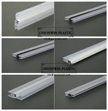 shower door plastic strip clear glass