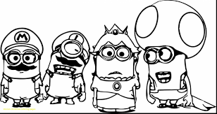 Minion Colouring Pages Printable Free With Christmas Coloring Lets