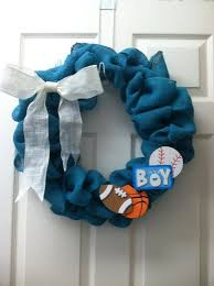 Welcome Home, Baby Boy! This Burlap Wreath Was Created By Hobby Lobby  Customer Tiffany