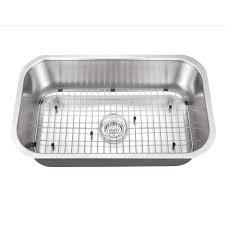 cahaba undermount stainless steel 30 in single bowl kitchen sink kit