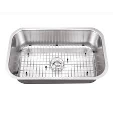 cahaba undermount stainless steel 30 in single bowl kitchen sink kit