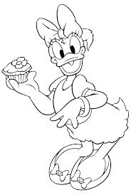 Paperina Con Un Cupcake Disegno Da Colorare Disney Gratis Disegni