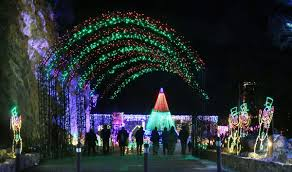Zoo Lights Colorado Manitou Springs Cave Of The Winds Illuminates Holiday