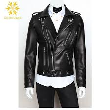 classic new arrivel men s black ridge real leather moto jacket motorcycle jacket retro leather jackets men l coml75