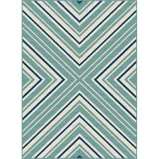 8 x 10 large blue and aqua indoor outdoor rug garden city rc willey furniture