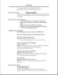 Basic Format For A Resume Simple Resume Format Basic Resume Template ...