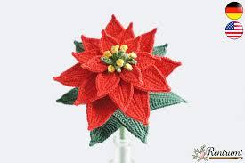 Häkelanleitung Schnittblume Weihnachtsstern