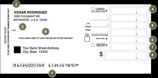 deposit slip examples how to fill in a deposit slip military