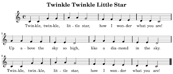 Twinkle Twinkle Little Star Recorder Finger Chart Twinkle Little Star Piano Notes What Are The Notes For