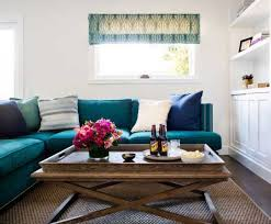 teal colored sofas | Then you always have your whites for a bright look.