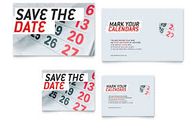 Save The Date Note Card Template - Word & Publisher