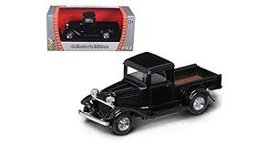 Amazon.com: 1934 Ford Pickup Truck Black 1/43 Diecast Car Model by ...