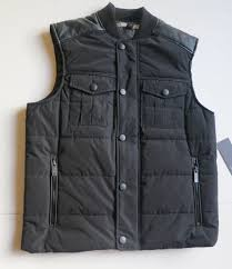 new men s kenneth cole reaction black pocket quilted winter fall vest jacket s
