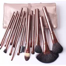 professional makeup brush set. rose gold megaga brushes professional makeup brush set tools beauty make up toiletry kit with case o