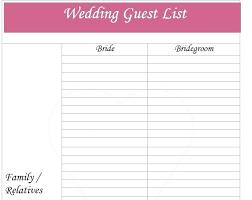 Excel Guest List Excel Guest List Template Wedding Download Helenamontana Info