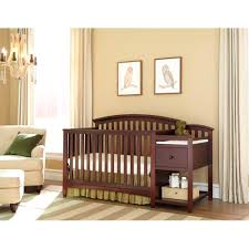 lovely chocolate mist baby cribs with changing table made of wood