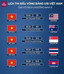 Năm 2021, lịch thi đấu của đt việt nam sẽ có hai giải đấu quan trọng là vòng loại world cup và aff cup. Lịch Thi Ä'ấu Vong Bảng Của U18 Việt Nam Tại Giải U18 Ä'ong Nam A Vov Vn