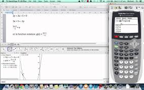 using geogebra and ti 83 graphing calculator to graph simultaneous equations