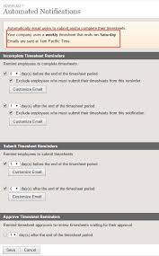 Automated Timesheet Automated Notifications Clicktime Support