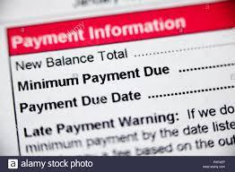 Minimum Credit Card Payment Payment Information Minimum Payment Due Payment Due Date