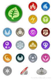 Pokemon Let S Go Element Chart Pkmn Type Symbol Pin Badges Pokemon Dark Type Pokemon