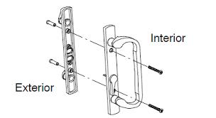 Marvin Trimline Patio Door Parts Bright Brass With Schlage Key