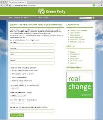 Modx Guide Green Party Members Website