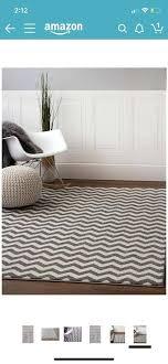 chevron rug 5x8 white and grey chevron rug