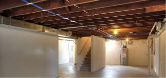 basement ceiling lighting ideas. Image Of: Unfinished Basement Ceiling Paint Ideas Lighting O