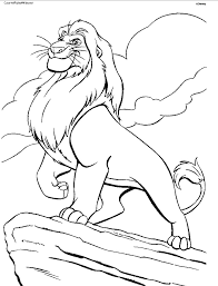 Small Picture Lion Coloring Pages Printable