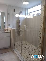 3 8 frameless in line shower door and panel with a fixed panel on a rise glass to wall hinges glass to glass hinge glass clips 8 back to back c pull