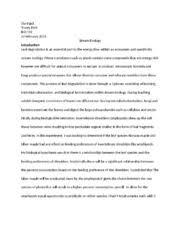 lab report stream ecology jane kemp bio l laboratory  6 pages stream ecology lab report