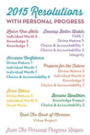 the personal progress helper 1 resource for young women 2015 resolutions personal progress